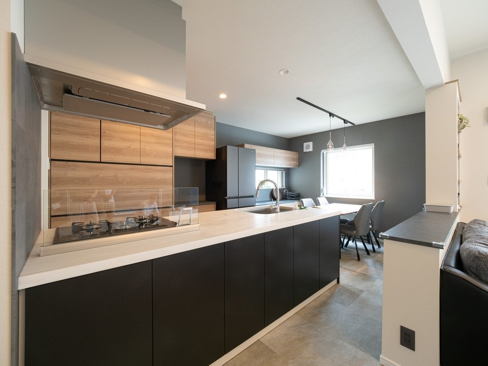 デザインが揃ったキッチン収納