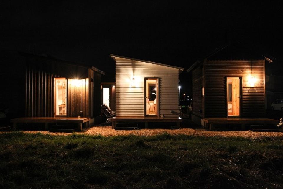 旭川公園ゲストハウスのタイニーハウス